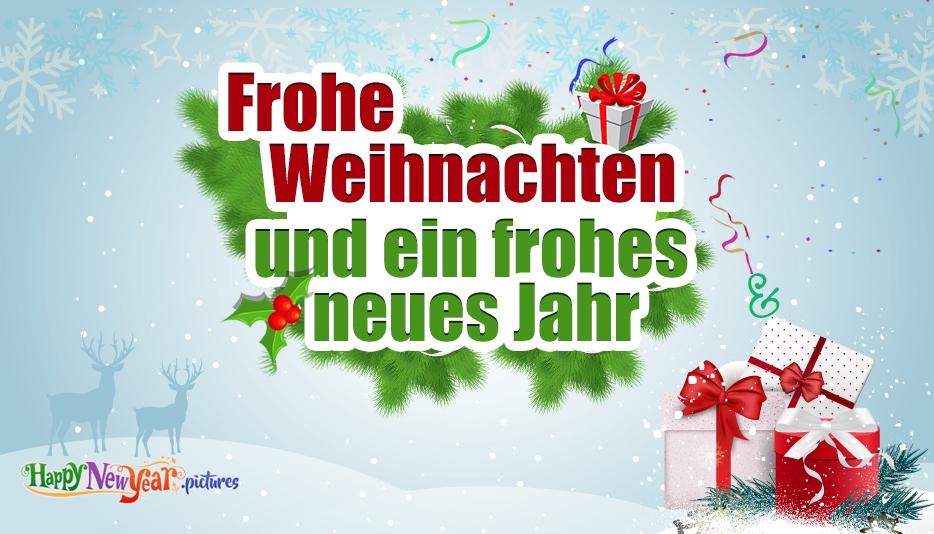 Frohes neues Jahr Fröhliche Weihnachten
