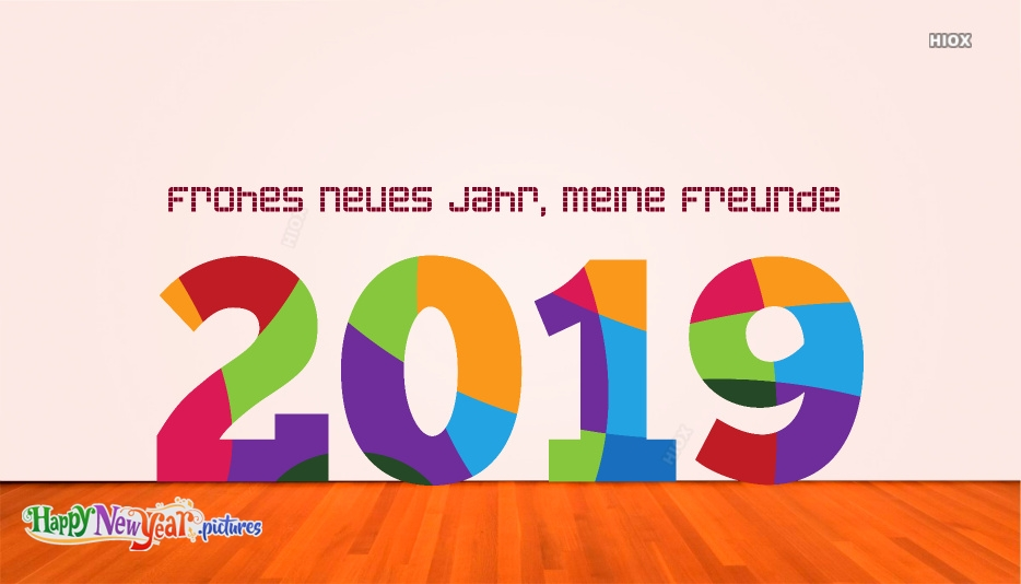 Frohes neues Jahr Freunde