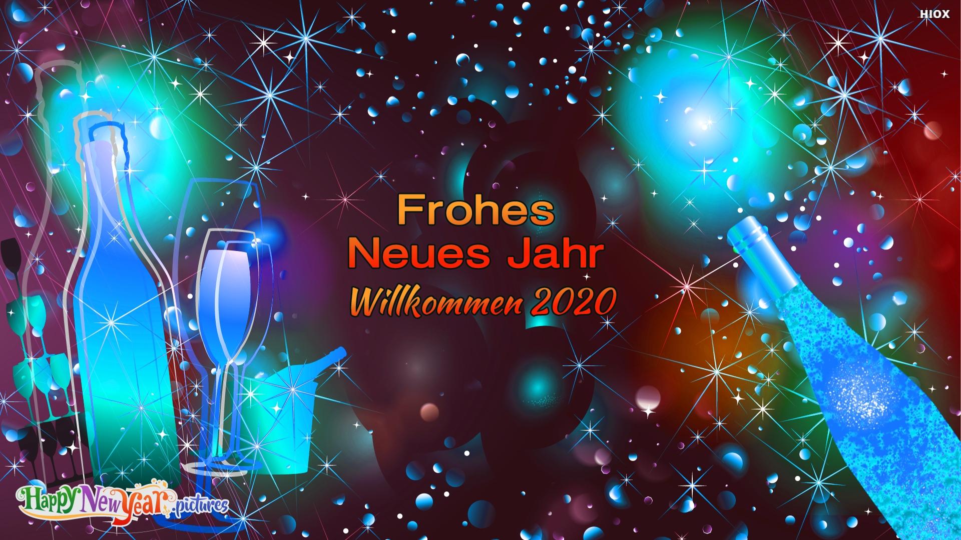 Frohes Neues Jahr Willkommen 2020