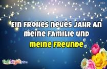 Ein Frohes Neues Jahr An Meine Familie Und Meine Freunde