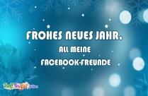 Frohes Neues Jahr, All Meine Facebook-Freunde