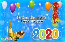 Frohes Neues Jahr Liebe Freunde