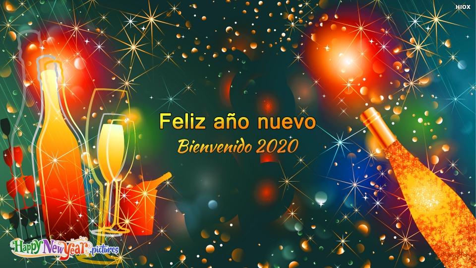 Feliz Año Nuevo Bienvenido 2020