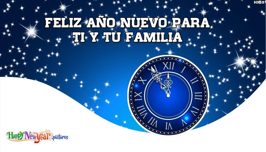 Feliz año nuevo Familia