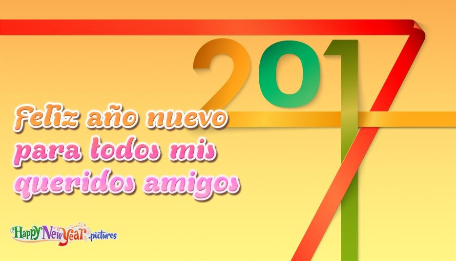 Feliz año nuevo para todos mis queridos amigos