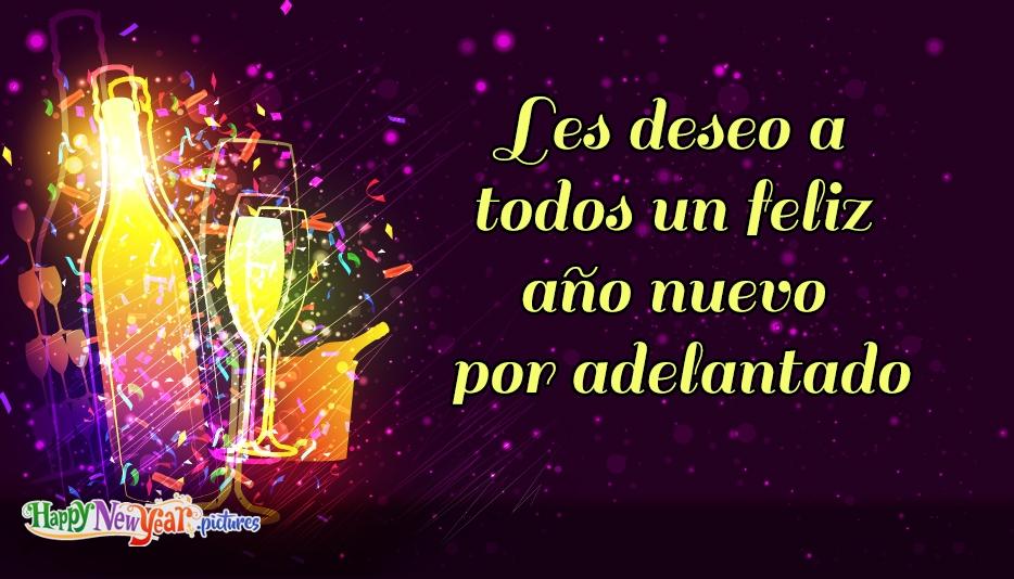 Les deseo a todos un feliz año nuevo por adelantado
