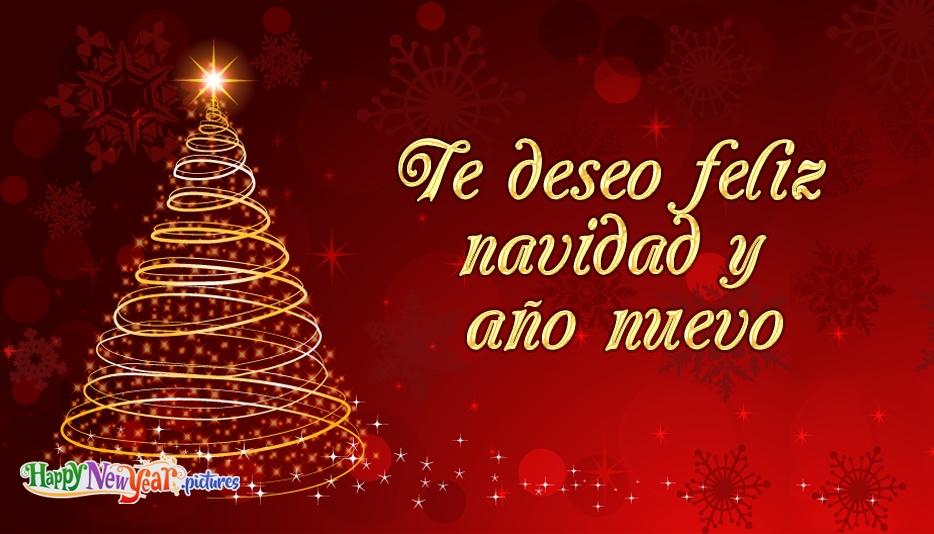 Feliz año nuevo Navidad