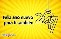 Feliz Año Nuevo Para Ti También