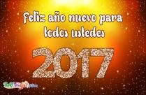 Feliz Año Nuevo Para Todos Ustedes