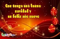 Que Tenga Una Buena Navidad Y Un Feliz Año Nuevo