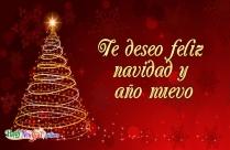 Te Deseo Feliz Navidad Y Año Nuevo