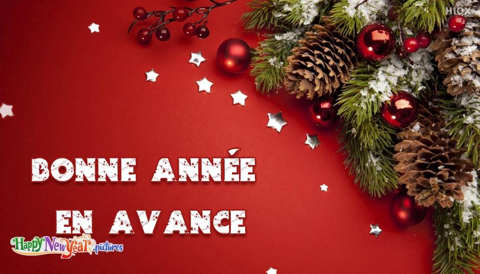 bonne année Avance