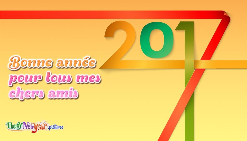 Bonne année pour tous mes chers amis