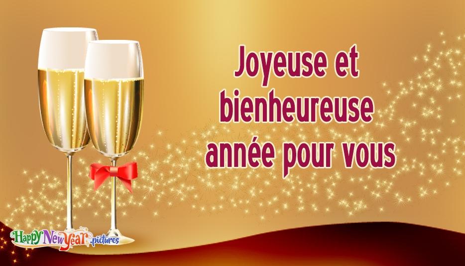 Joyeuse et bienheureuse année pour vous