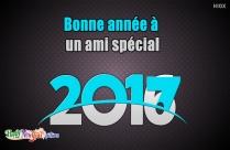 Bonne Année à Un Ami Spécial