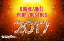 Bonne Année Pour Vous Tous