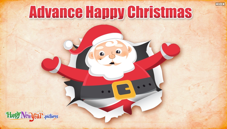 Christmas Advance - Advance Merry Christmas Images, Greetings