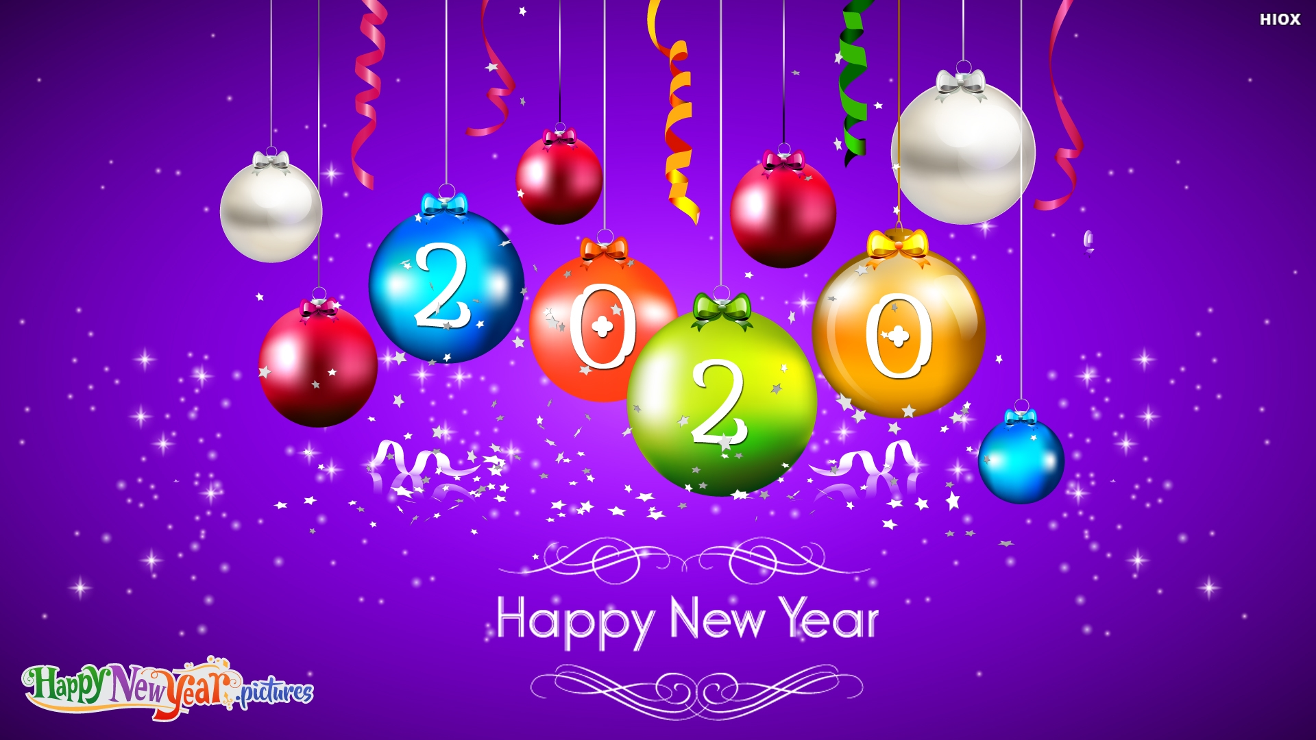 Colorful Happy New Year Wishes Dear Friends