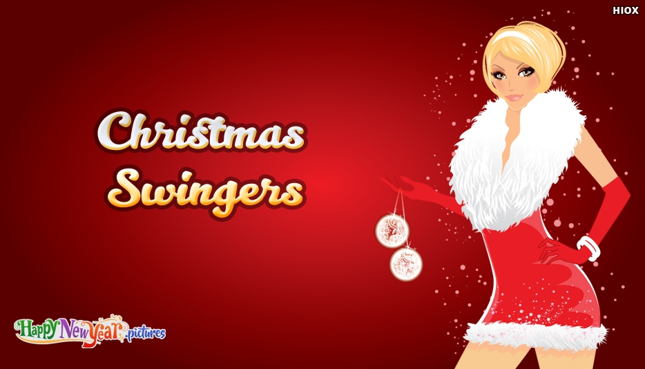 Funny Christmas Swingers Card - Merry Christmas and Happy New Year Greetings
