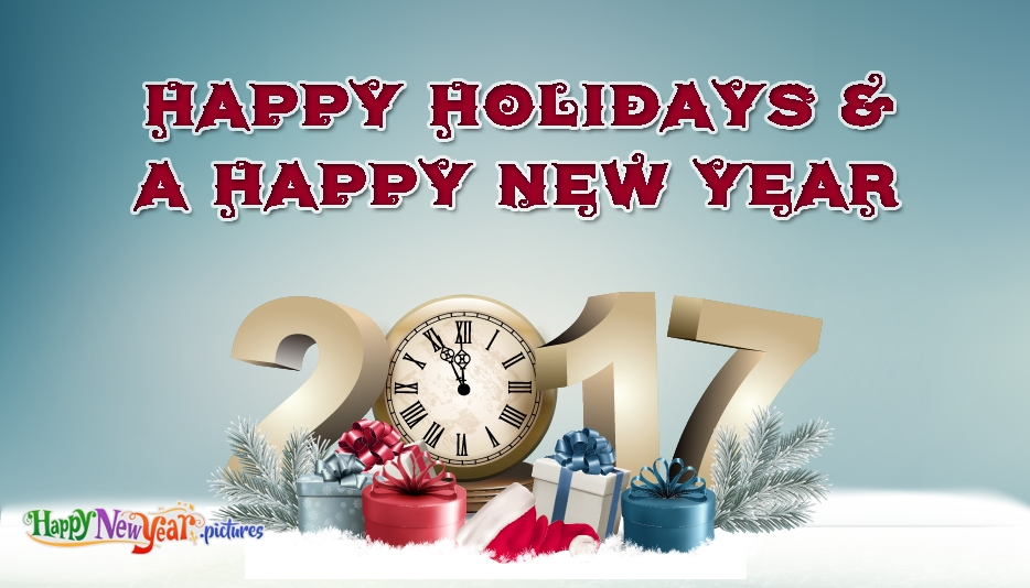 Happy Holidays and a Happy New Year Greetings - Happy New Year Images for Friends