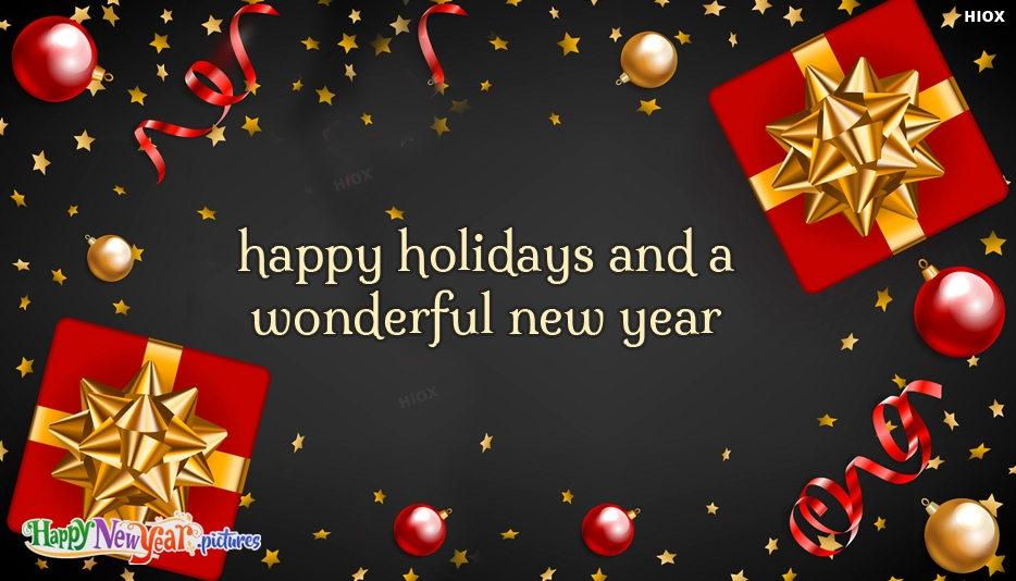 Happy New Year and Happy Holidays Images