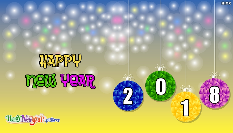 Happy New Year 2018 Image