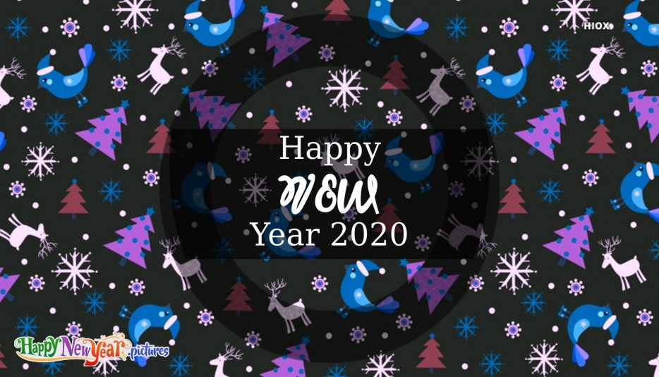 Happy New Year Wish in Black And White