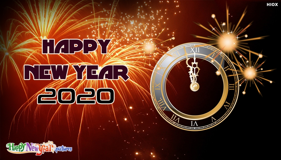 Happy New Year 2020 Clock
