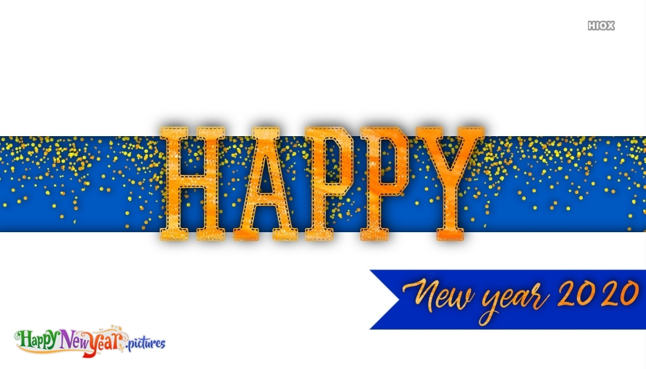 Happy New Year 2020 Glitter