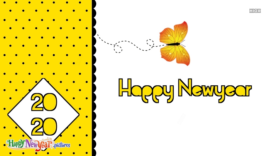 Happy New Year Butterfly Images