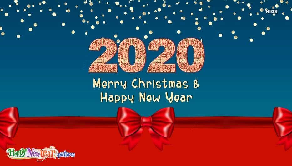 Happy New Year 2020 Merry Christmas