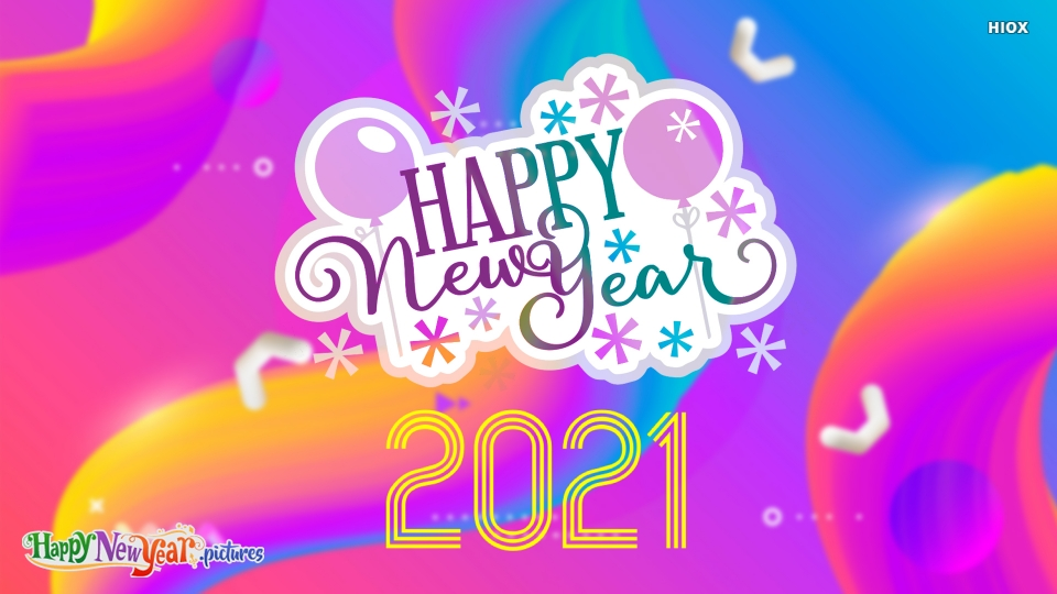 Happy New Year 2021 Colorful Status