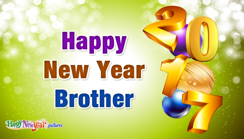 Happy New Year Brother - Happy New Year Images for Brother
