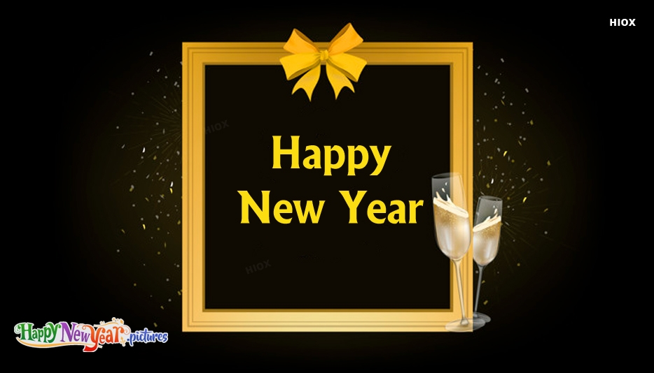 Happy New Year Candle