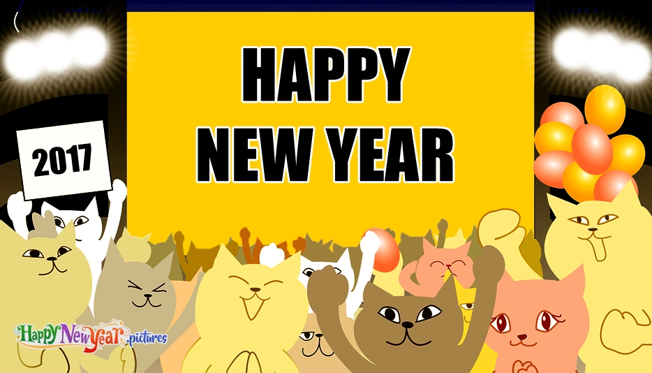 Happy New Year Cat - Happy New Year Images for 2017