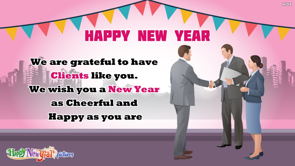 Happy New Year Wishes To Clients