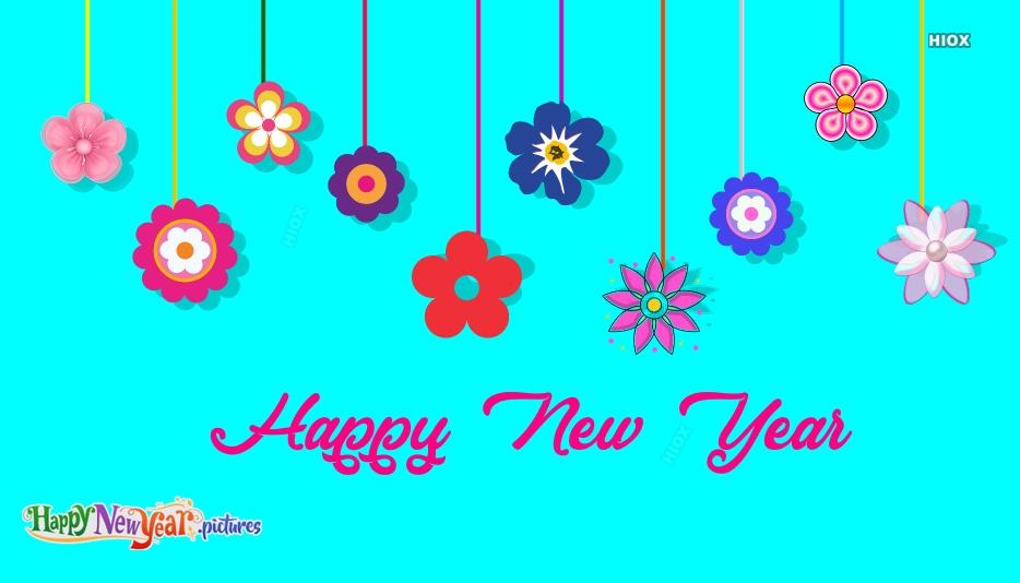 Happy New Year Flower
