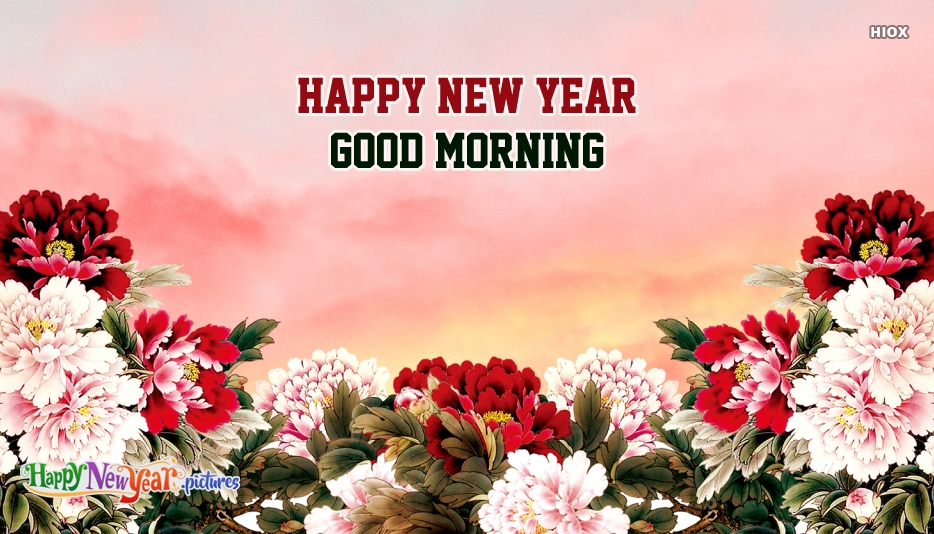 Happy New Year Flower Images