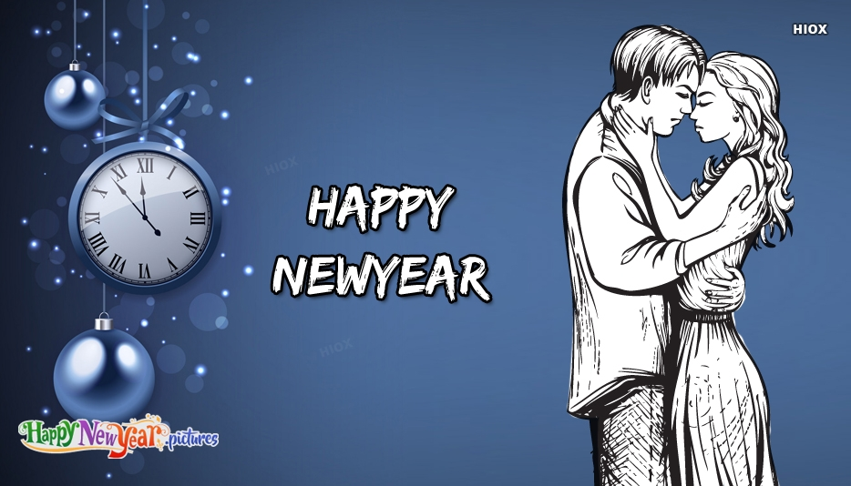 Happy New Year Love Couple Hd Wallpaper