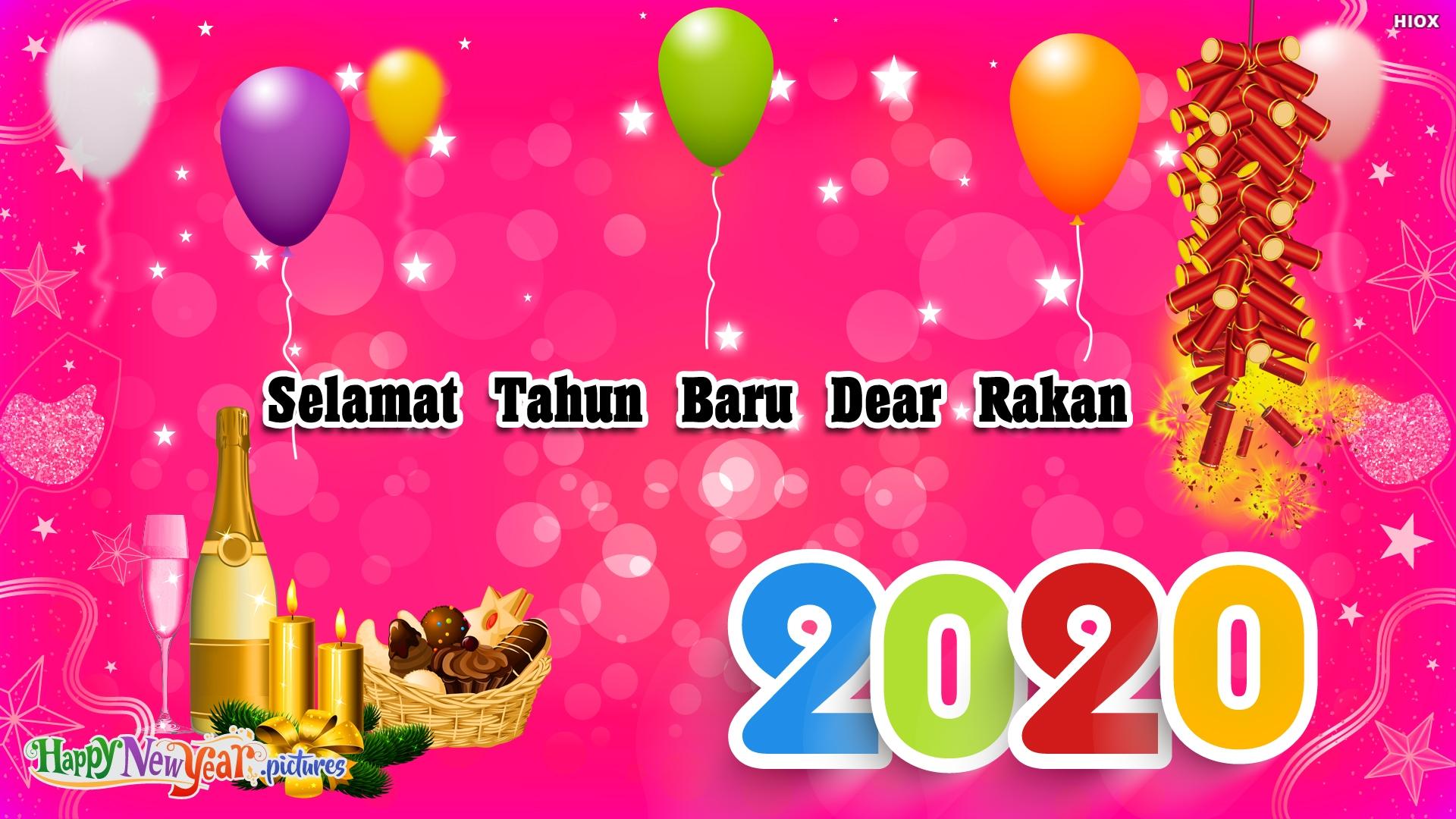 Happy New Year Dear Friends In Malay