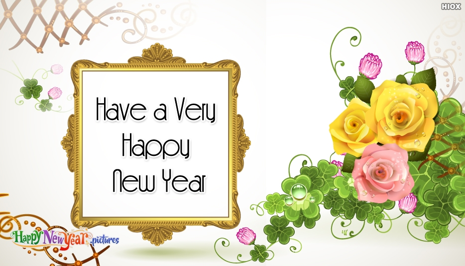 Happy New Year Template Card - Happy New Year Images for Friends