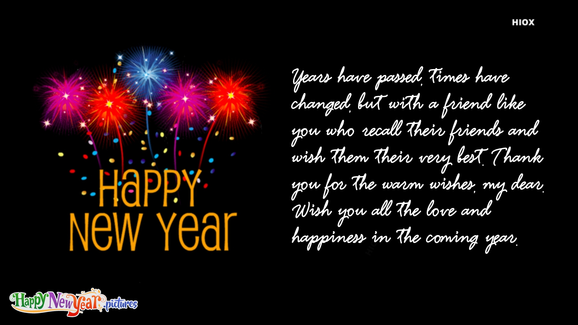 Happy New Year and Thank You