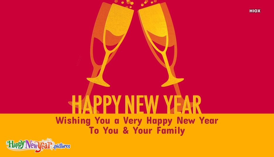 Happy New Year To You and Your Family Image
