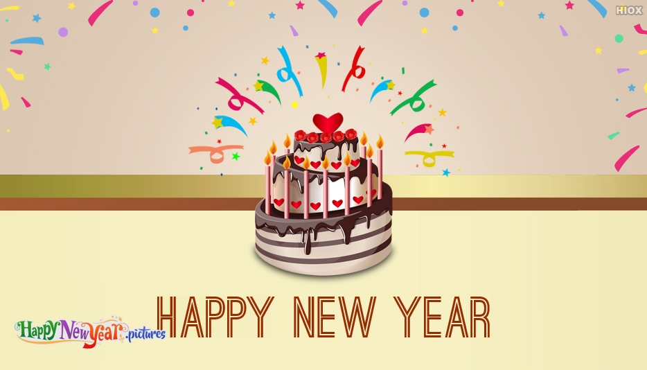 Happy New Year With Cake