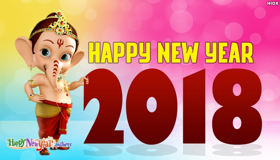 Happy New Year Images with Ganesha
