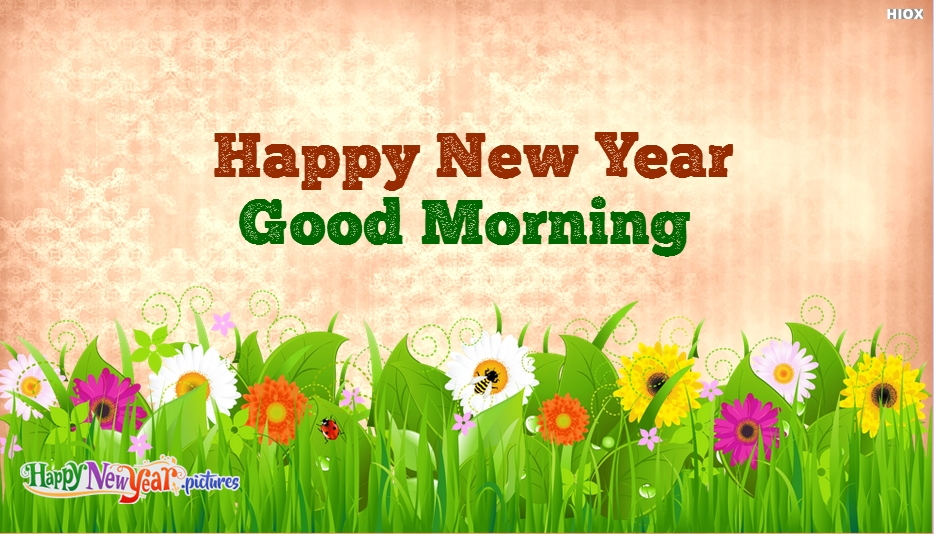 Happy New Year With Good Morning