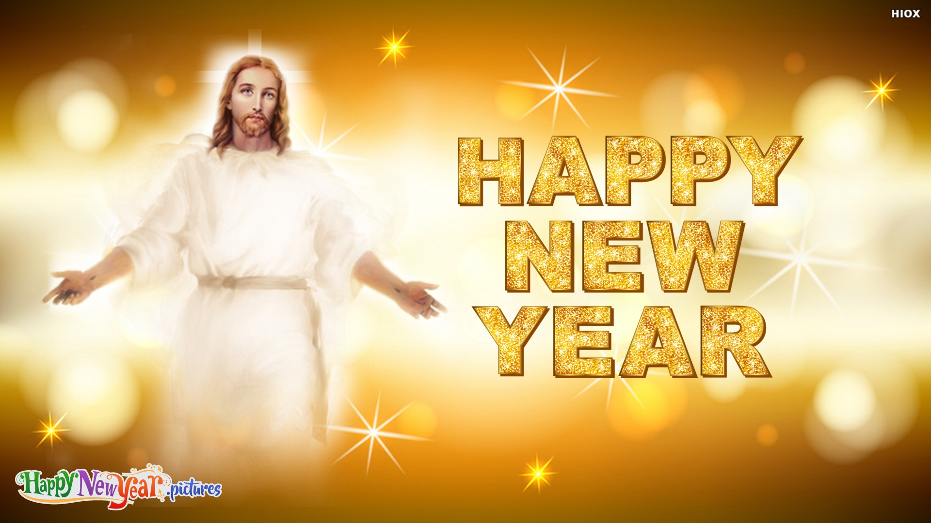 Happy New Year With Jesus Blessings