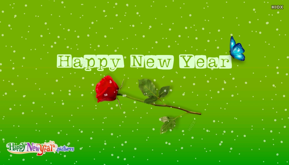 Happy New Year With Rose