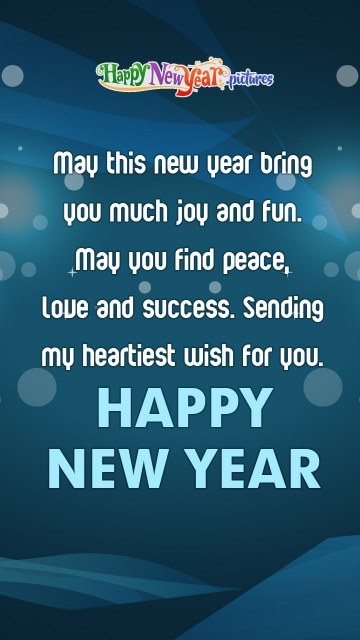 May This New Year Bring You Much Joy and Fun.