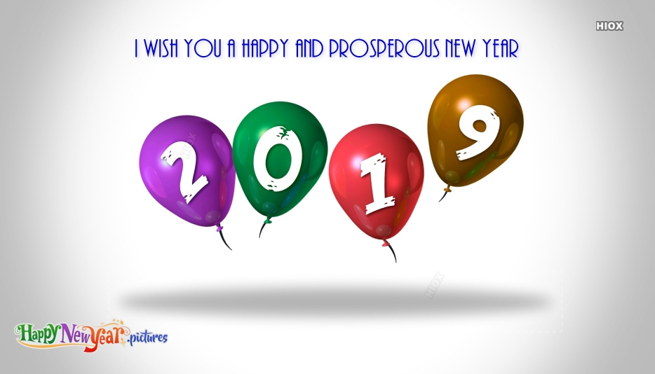 I Wish You A Happy and Prosperous New Year 2019
